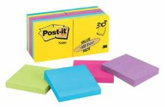 Title: Post-it / Physical details: 14 pads, 100 sheets per pad / Dimensions: 3 x 3-Inches / Price: $14.88 from amazon.com / Keyword1: School / Keyword 2: Paper / Keyword3: Organization / Keyword 4: Office