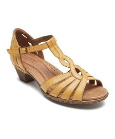 ebf55107b424bc This Amber Abbott Leather T-Strap Pump is perfect!  zulilyfinds Rockport  Cobb Hill