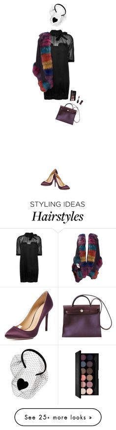 """""""Catch the Rainbow"""" by wlrs on Polyvore featuring Love Moschino, RED Valentino, Yves Saint Laurent, MAC Cosmetics, Charlotte Olympia, Hermès, women's clothing, women, female and woman"""