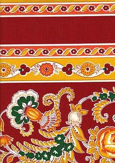 Provence fabric: Arles rouge rayure