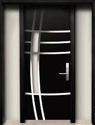 Modern Contemporary Door -Modern Wood Door with Stainless Steel Design & 2 Side . Modern Contemporary Door -Modern Wood Door with Stainless Steel Design & 2 Side lites installed in Whity,Ontario by Door Gate Design, Room Door Design, Door Design Interior, Main Door Design, Wooden Door Design, Interior Ideas, House Design, Modern Wood Doors, Modern Exterior Doors