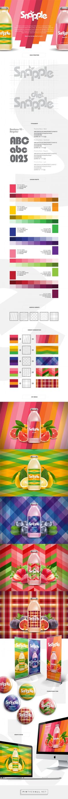 Snapple self-initiated concept by Aw Sei Wei. Source: Behance. #SFields99 #packaging #design