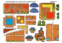 5 Castelos de Papel para imprimir e montar - Brinquedos de Papel