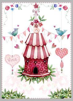 Victoria Nelson - Valentine Birdhouse 1