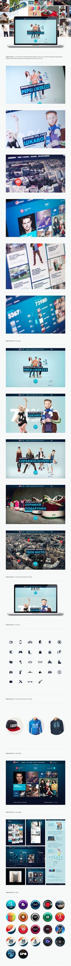 Pepsi Likerzzz / Dmitry Silantiev #webdesign #ui #design #user #iterface #web