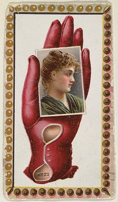 Card Number 21, cut-out from banner advertising the Opera Gloves series (G29) for Allen & Ginter Cigarettes, ca. 1890. The Metropolitan Museum of Art, New York. The Jefferson R. Burdick Collection, Gift of Jefferson R. Burdick (63.350.202.29.21)