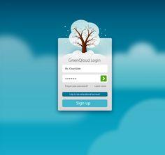 Beautiful login design found on Dribbble. Love the winter color scheme. Login Page Design, App Ui Design, User Interface Design, Ui Kit, App Login, Iphone, Mobile Ui Design, Ui Design Inspiration, Apps