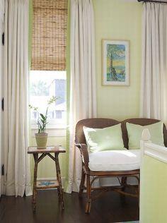 I love the blind curtain combo