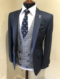 Wedding Suit Hire For Men & Tailoring - Slim fit navy lounge suit Wedding Suit Hire, Summer Wedding Suits, Wedding Men, Summer Groom Suit, Grey Wedding Suits For Men, Groom Wear, Groom Attire, Navy Groom Suits, Groom Outfit