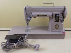VINTAGE SINGER SEWING MACHINE MODEL 301A WITH PEDAL AND BOBBIN CASE - SEE VIDEO