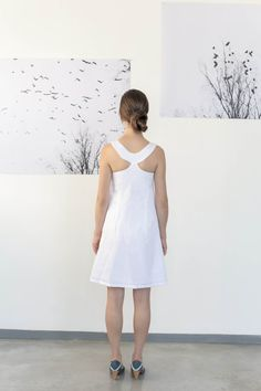 Summer white dress , White dress women , Mini dress , Breakfast at tiffanys dress , Bridesmaid dress , Sleeveless dress , Cotton dress