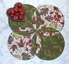 Fall Autumn Leaves Table Runner Topper Quilt by KeriQuilts on Etsy, $35.00