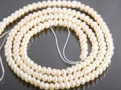 Full 16 inch strand: Tiny cultured fresh water pearls by JWbeads