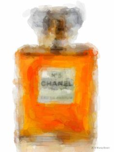 CHANEL No 5 Eua de Parfum / Perfume 1 /// Watercolor/ by EisnerArt, $30.00