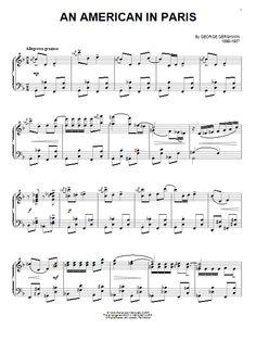 George Gershwin: An American In Paris - Partition Piano Solo - Plus de 70.000 partitions à imprimer !