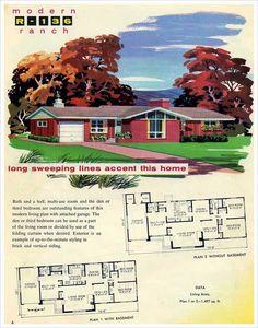 Mid Century Modern House Plans | Mid Century Modern Ranch - 1948 ...