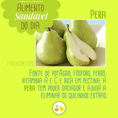 Com menos de 100 calorias, a pera é a nossa sugestão para um lanchinho saudável