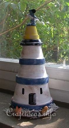 Lighthouse pots...DIY