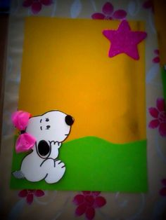 gelişim raporu süsü Snoopy :) Snoopy, Fictional Characters, Feltro, Projects, Stuff Stuff, Sunday School, Paper Envelopes, Fantasy Characters