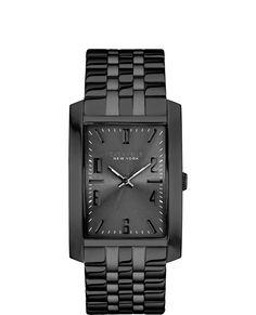 17304fb0ccf Caravelle New York by Bulova Men s Black-Tone Stainless Steel Bracelet Watch