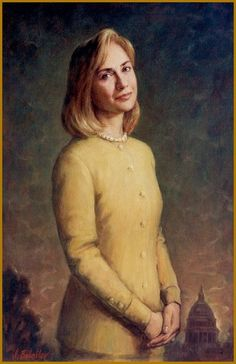 Babailov, painting of First Lady Hillary R. Clinton,  -  'Inauguration Day, 1993', , oil, 30x24in. coll. Clinton Pres. Library