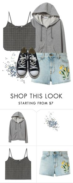 """""""Untitled #1533"""" by vincentvangoth ❤ liked on Polyvore featuring Topshop, Gucci and Converse"""
