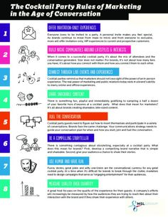 The cocktail party rules of Marketing in the age of conversation #infografia #infographic #marketing