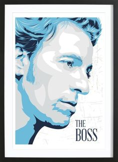 Music Legend. Bruce Springsteen Art Print by CMA now on Juniqe.com | Art. Everywhere.