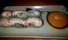 Fresh shrimp and pork rolls