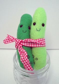 Plush Pickle Duo by AsIBreatheIHope on Etsy, $12.50