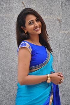 Actress Lasya Latest Photos in Blue Saree Blue Saree, Tamil Movies, Indian Beauty Saree, India Beauty, Beauty Women, Desi, Bollywood, Actresses, Actors