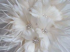 Feather Brides Bouquet by ynasbridal on Etsy