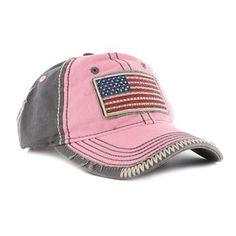 Boot Barn® Women's Bling Flag Patch Ball Cap