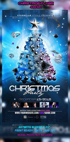 Christmas Flyer Template PSD #design Download: http://graphicriver.net/item/christmas-flyer-template/12964829?ref=ksioks