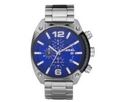Diesel DZ4213 silver Stainless Steel Watch with blue dial