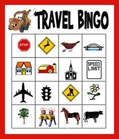 Travel Bingo Printable #DIY #Disney #Kids #RoadTrip #RoadTrips #Travel #Vacation #Cars #Mater