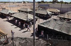"""Maricopa County Jail (Tent City) Location: Phoenix, AZ Notable Residents: n/a Amenities: Inmates get to live outside—in tents  Here's a good reason to stay out of trouble in Arizona, or just stay out of Arizona altogether: The overwhelmingly-popular incumbent Maricopa County Sheriff Joe Arpaio set up """"Tent City,"""" an extension of Maricopa County Jail, back in 1993. Located literally in a yard,"""