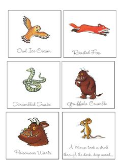 Gruffalo Activities, Gruffalo Party, The Gruffalo, Activities For Kids, Writing Activities, Party Food Labels, Party Printables, 3rd Birthday Party For Boy, Gruffalo's Child