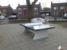 Pingpongtafel Afgerond Groen bij Basisschool De Touwladder in Sint Michielsgestel