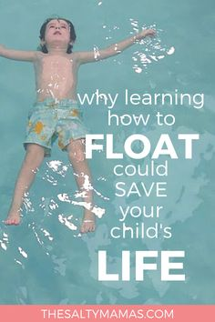 Survival swim lessons start with floating - the skill that could save your child's life! Learn everything you need to know about survival swim lessons from The Salty Mamas. Swimming Pool Games, Toddler Swimming, Swimming Videos, Swimming Pictures, Swimming Coach, Swimming Tips, Teach Kids To Swim, Learn To Swim, Swimming Lessons For Kids