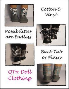Dorel Boots 18 inch Doll Shoes PDF Pattern Download | Pixie Faire