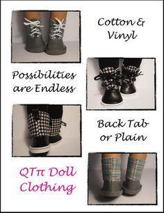 Dorel Boots 18 inch Doll Shoes PDF Pattern Download | Pixie Faire