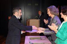 Doña Sofía entrega la Mención Especial en la Categoría de conservación, a la Capilla del siglo XVI de Brihuega (Guadalajara) Museo Arqueológico Nacional. Madrid, 17.04.2015