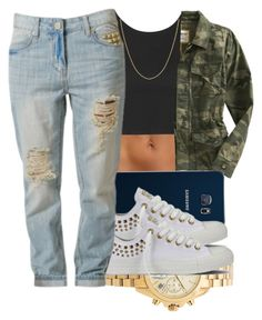 """Untitled #1228"" by swagger-on-point-747 ❤ liked on Polyvore featuring Topshop, Old Navy, Samsung, Michael Kors, Converse and Fremada"