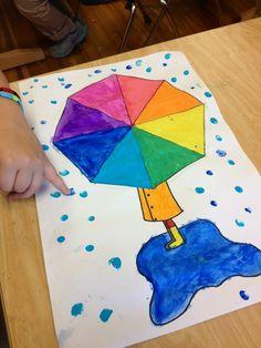 Color wheel umbrellas. #coloritlikeyoumeanit