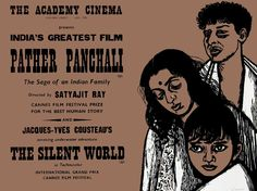 British poster for PATHER PANCHALI (Satyajit Ray, India, 1955)  Designer: Peter Strausfeld (1910-1980)