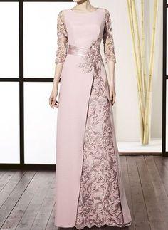 Black Friday Chic Floral Round Neckline Maxi A-line Dress - Floryday Source by gracelady_D dresses gowns Trendy Dresses, Women's Fashion Dresses, Hijab Fashion, Women's Dresses, Dresses Online, Dress Brukat, Long Gown Dress, Chic Dress, Hijab Evening Dress