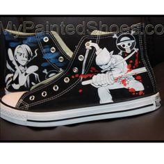 669a21b55e6 one piece High Top Canvas Sneaker. Custom Converse Shoes For Women Men ...