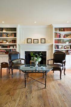 I like the shelves beside the fireplace.