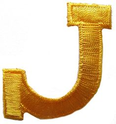 "[Single Count] Custom and Unique (1 3/4"" inches) American Alphabet Bold Letter J Logo Iron On Embroidered Applique Patch {Yellow} mySimple Products http://www.amazon.com/dp/B013FAX4PE/ref=cm_sw_r_pi_dp_xpXFwb1912810"